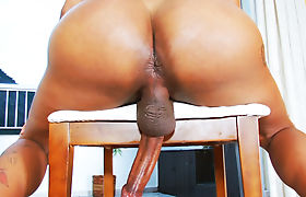 Tayla Leal jerking her monster cock